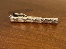 Vintage Anson Silver Tone Men's Tie Bar Clip
