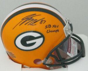 "Packers JORDY NELSON Signed Riddell Mini Helmet AUTO w/ ""SB XLV Champ"" -  JSA"