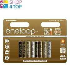 8 PANASONIC ENELOOP TONES EARTH RECHARGEABLE AAA HR03 BATTERIEN BLISTER 1.2V