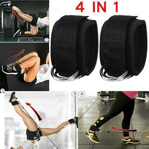 1 Pair Foot Ankle Strap for Cable Machine Attachment Gym Fitness Training Band