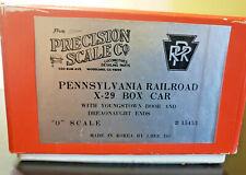 Precision Scale Co. Pennsylvania Railroad X-29 Boxcar O scale Brass #15453 Korea