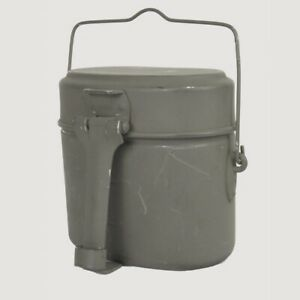 GERMAN ARMY SURPLUS MESS TINS – 3 piece heavy duty compact billy can set camping
