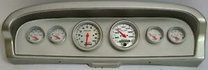61-66 Ford Truck Silver Dash Carrier w/ Auto Meter Ultra Lite Electric Gauges