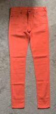 "Jack wills super skinny jeans...size 26""w /32""leg coral"