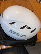 New Briko Kodiak Casco SCI Skinny White Ski Helmet Size 58CM