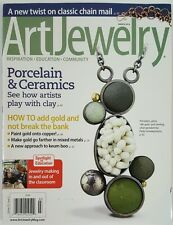 Art Jewelry Porcelain Ceramics Clay How Tos Chain Mail Mar 2016 FREE SHIPPING JB
