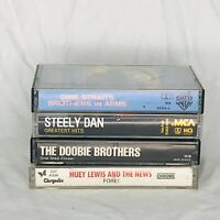 Lot of 4 Music Cassette Tapes Dire Straits Steely Dan Doobie Brothers Huey Lewis