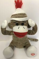 Animated Interactive Peek A Boo Plush Stuff Toy Sock Monkey Baby Giggles