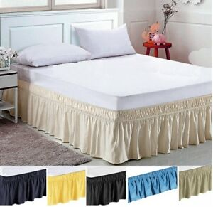 Elastic Bed Skirt Dust Ruffle Easy Fit any size( King CA-K Queen Full Twin )