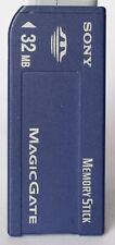 Sony 32MB full size magicgate memory stick MSH-32.