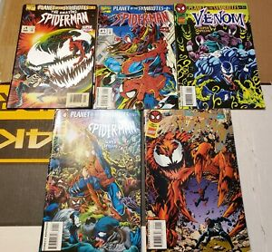 PLANET OF THE SYMBIOTES SET 1 2 3 4 5 AMAZING SPIDERMAN VENOM CARNAGE COMICS