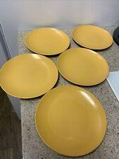 New listing Lot of 5 Vintage Oneida Deluxe Melamine - Mustard - Harvest Gold - Bowl / Plate