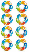 """Intex Inflatable 47"""" Color Whirl Tube Swimming Pool Raft with Handles (8 Pack)"""