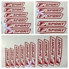 "6pc Red Lexus Brake Caliper Vinyl Stickers Decal Logo wrap "" F Sport "" IS or GS"