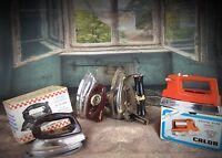 Lot de 4 fers à repasser jouets anciens vintage Calor, heiliger, super cadet ..