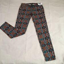 Celebrity Pink Womens Jeans Sz 9 Stretch Low Rise Skinny Denim Aztec Print Jrs