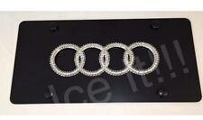AUDI Black Vanity Front license plate frame 1mm Heavy Duty Swarovski Crystal