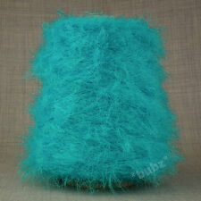 SOFT DOUBLE KNITTING FEATHER YARN TURQUOISE 500g CONE 10 BALLS GLITTER SCARF DK