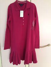Merveilleuse RALPH LAUREN Robe himbeerfarben taille 16 ans/XL np85 Euro, Nouveau-Top!