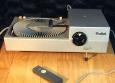Rollei P37E 35mm Slide Projector Tested With Case and Cables !! Bulb Not Working