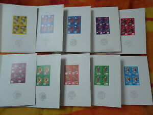football world cup 1998 set of 10 FDC folders all block of 4 - free shipping