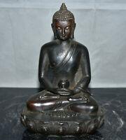"8.4 ""bouddhisme en bronze tibétain ancien Bouddha Sakyamuni Amitabha Sculpture"