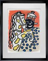 Fernand LEGER Limited Edition ORIGINAL Lithograph, 1950 +Custom FRAMING