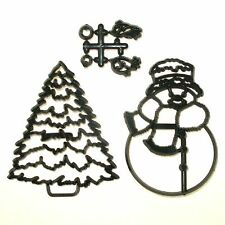Patchwork Cutters LARGE SNOWMAN & Christmas TREE Sugarcraft Cake Decorating