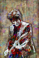 Ronnie Wood Pop Art 20x30in Poster, Rolling Stones Art Print Free Shipping