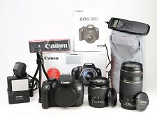 Canon EOS 700D DSLR Camera Dual Lens Kit EF-S 18-55mm III &  EF 75-300mm III EXC