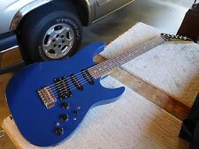 Kramer XL-6 Electric Solid Body Guitar, Blue, USA ,1980s