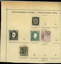 Portuguese India Album Page Of Stamps #V15652