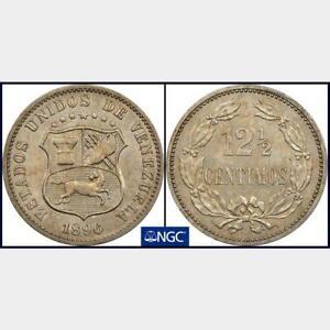 1896 Venezuela 12.5 Centimos NGC MS 61. KM-Y-28