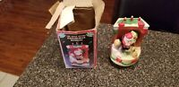 Vintage Taiwan The Night Before Christmas Wind Up Musical EUC WITH BOX COLLECTOR