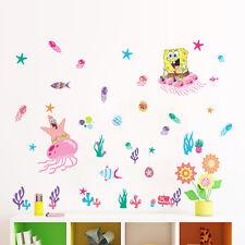 Spongebob Squarepants Coral Kids Wall Stickers Vinyl Decal Nursery Decor Gift AU