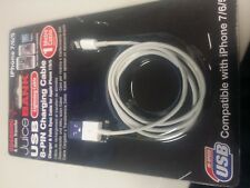 Juice bank IPHONE 7/6/5 8 PIN CHARGER USB LEAD 1m