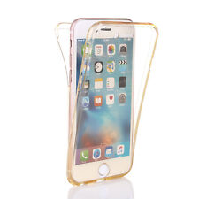 Front and Back Slim Clear Transparent Gel Soft TPU Case Cover For Apple iPhone