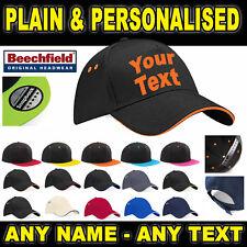 Baseball Cap Personalised Plain - Any Name - Custom Caps Hats Accessories Hat