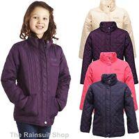 REGATTA GIRLS PHOEBUS EQUESTRIAN WARM INSULATED QUILTED COAT JACKET KIDS 5-12YRS