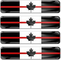 Autocollants 3D Drapeau Canada Firefighter Red Line Canadien Rouge Flag Sticker