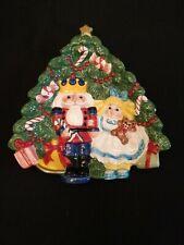 Fitz Floyd Ff Nutcracker Sweet Canape Plate Christmas Tree Clara 1992 Retired