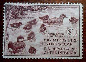 Buffalo Stamps:  Scott #RW8 Duck Stamp, Mint NG & F/VF, CV = $100 as OG