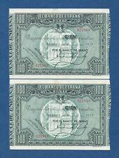 BILBAO -- PAREJA 100 PESETAS ( 1937 ) -- EBC // XF -- SIN SERIE -- PICK S565a .