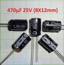 10X Mini Stützkondensator für Wagen Beleuchtung ,Kondensator- 470µF/25V E501