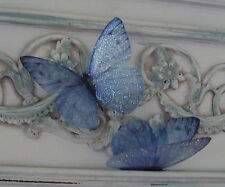 Butterfly Accessories 4 Forget me Not Blue in Flight 3D Sparkling Butterflies