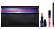 MAC 4pc Set Enchanted Evening Lip Bag Nude - Lipstick, Lipglass, Lip Liner & Bag