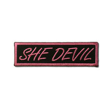 Embroidered She Devil Sew or Iron on Patch Biker Patch