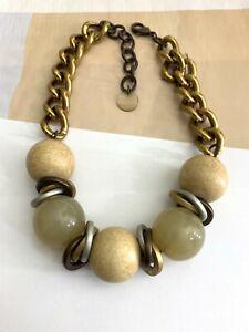 Designer Signed PONO Joan Goodman Lucite Balls Beads Choker Modern Necklace