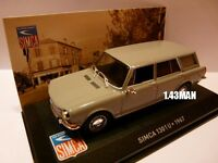 SIM1F Voiture 1/43 IXO altaya SIMCA : 1301U 1967 grise