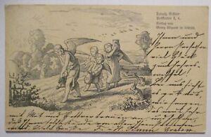 Ludwig Richter Postkarte, Engel und Kinder bei der Saat, 1904 aus Grabow (42033)